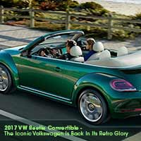 2017 VW Beetle Convertible – The Iconic Volkswagen Is Back In Its Retro Glory