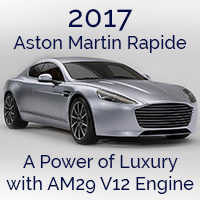 2017 Aston Martin Rapide – A Luxury Sedan with AM29 V12 Engine
